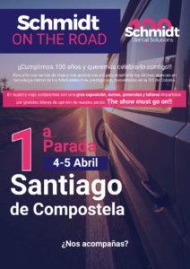 Schmidt on the road en Santiago de Compostela